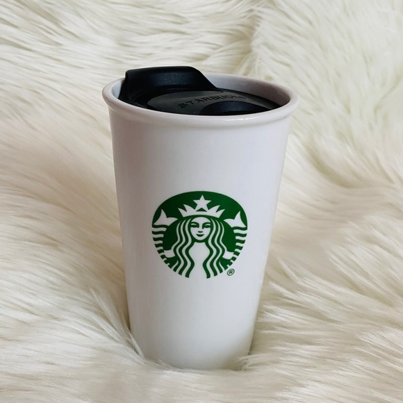 Starbucks // Ceramic To-go Cup w/ Lid